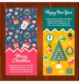 Banners Santa Presents Tree vector image