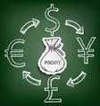 Diagram currencies Stock vector image