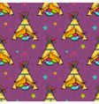 seamless pattern with indian wigwam for kids room vector image