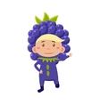 Kid In Blackberry Costume vector image