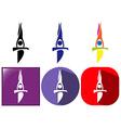 Sport icons for gymnastics on balance bar vector image