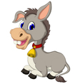 funny donkey cartoon sitting vector image vector image