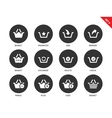 Baskets icons on white background vector image