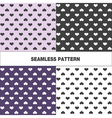 Collection of seamless pattern with hearts vector image