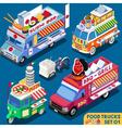 Food Truck Set01 Vehicle Isometric vector image