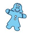 gingerbread girl cookie vector image