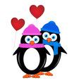 Little penguins vector image