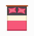 luxury double bed icon vector image
