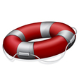 red life buoy vector image