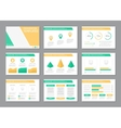 Set of green and yellow template for multipurpose vector image