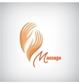 massage logo 2 hands silhouette icon vector image