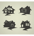 traditional homes emblems vector image