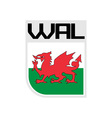 Flag of Wales icon vector image