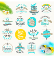 Set of summer vacation and travel type design vector image