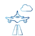 Abstract colorful minimalistic air plane logo vector image