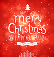 christmas red bg vector image
