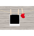 hearts clothespins 06 vector image
