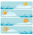 weather design vector image vector image