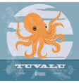 Tuvalu Octopus Retro styled image vector image