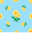 Seamless pattern sunflower vector image