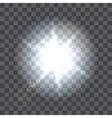 Lens flare beam on transparent background vector image