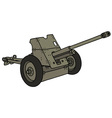 Old gray cannon vector image