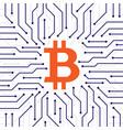 bitcoin blockchain background vector image