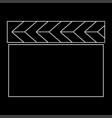 Cinema clapper the white path icon vector image