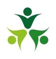 human figure silhouette green icon vector image