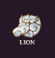 lion logo icon design vector image