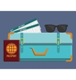 luggage travel icon image vector image