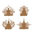 meditation set vector image