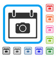 photo camera calendar day framed icon vector image