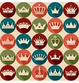 seamlees crowns pattern vector image