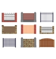 set of flat fences for infographics vector image