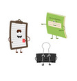 set of funny characters from notebook tablet vector image