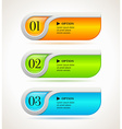 Shine horizontal options banners or buttons vector image