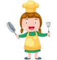 Cute Female Chef vector image