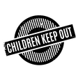 Children Keep Out rubber stamp vector image