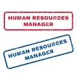 Human Resources Manager Rubber Stamps vector image