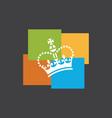funky crown logo vector image vector image