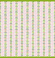 simple pattern with leaves colorful vector image vector image