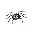 cute funny black spider traditional halloween vector image vector image