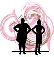 Two Women vector image vector image