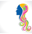 abstract beautiful girl vector image