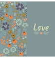 Floral card with heart vector image