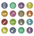 Active receration simply icons vector image