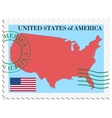 Mail to-from United States vector image