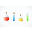 chemicallaboratory glassware vector image