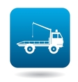 Tow truck icon simple style vector image